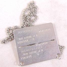 Belgisch leger - identificatieplaatje