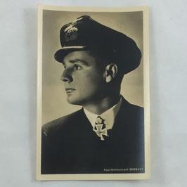 German postcard 'Ritterkreuzträger Kapitänleutnant Endrass' by Hoffmann