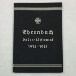 'Ehrenbuch Baden-Lichtental 1914-1918'