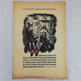 Wochenspruch der NSDAP - Wenn das Licht... - 1942