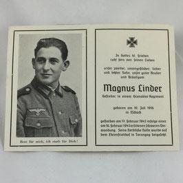 Deathcard of 'Magnus Linder'