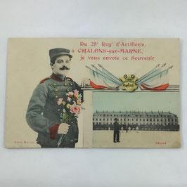 French Postcard 'Du 25e Régt d'Artillerie à Chalons-sur-Marne, je vous envoie ce Souvenir'