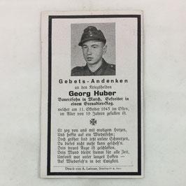 Deathcard of 'Georg Huber'