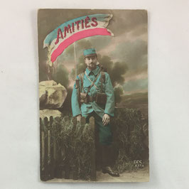 French Postcard 'Amitiés'