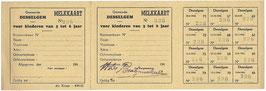 Melkkaart - Gemeente Desselgem - 1945/46
