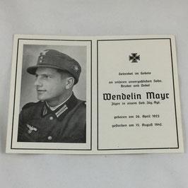 Deathcard of 'Wendelin Mayr'