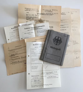 German document grouping with Wehrpass 1968 - 1974