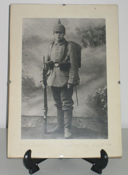 Large picture of a german soldier 1914