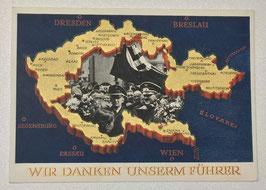 German postcard 'Wir danken unserm Führer'