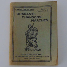 French book 'Quarante Chansons-Marches'