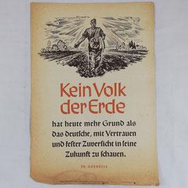 Wochenspruch der NSDAP - Kein Volk der Erde... - 1942