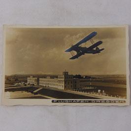 German postcard 'Flughafen Dresden'