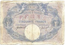 Frans geld 'Cinquante Francs' - 1917