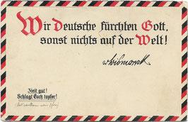 Wir Deutsche fürchten Gott, sonst nichts auf der Welt!
