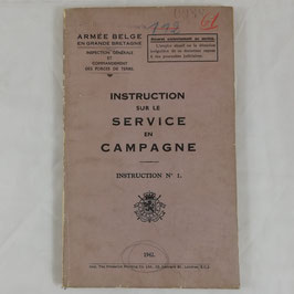 Instruction sur le service en campagne - Instruction N° 1 - 1942