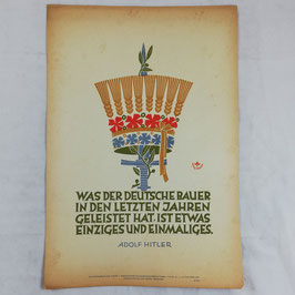Wochenspruch der NSDAP - Was der deutsche Bauer... - 1942