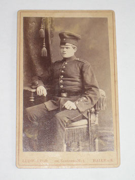 CDV German Soldier - Halle a/S.