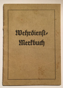 Small german Notebook - 'Wehrdienst Merkbuch'