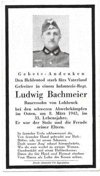 Doodsprentje 'Ludwig Bachmeier'