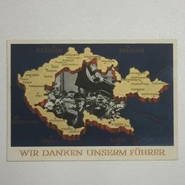 German postcard 'Wir danken unserm Führer' I
