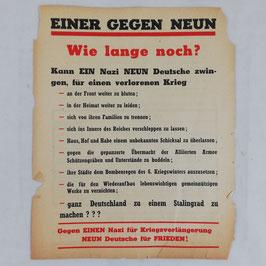 Allied leaflet 'Einer gegen Neun'