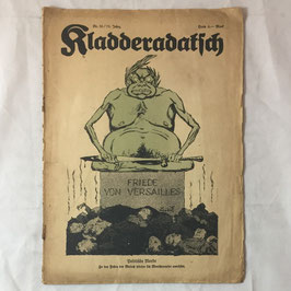 German satirical magazine 'Kladderadatsch' - 1922