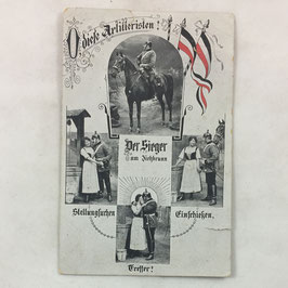 German postcard 'O, diese Artilleristen!'