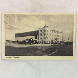 German postcard 'Erfurt - Flughafen'