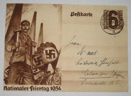 'Nationaler Feiertag 1934' Postcard