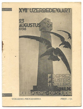 Programmaboekje - 17de Ijzerbedevaart - 1936