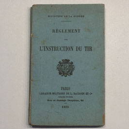 French book 'Règlement sur l'instruction du tir'