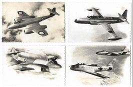 Lot postkaarten vliegtuigen