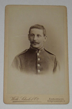 CDV German Soldier - Karlsruhe