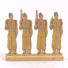 Speelgoedsoldaten op hout