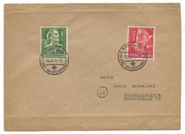 Enveloppe met poststempels - 1944