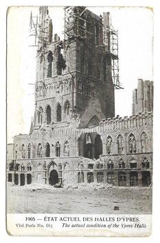 Etat acutel des halles d'Ypres - The actual condition of the Ypres Halls