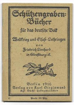 Schützengraben-Bücher für das deutsche Volk' N°12 - 1916