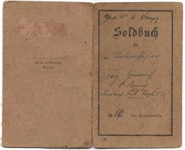 Preussen - Soldbuch - Landwehr Inf.-Regt Nr. 68 - 1914