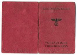 Deutsches Reich - Vorläufiger Fremdenpass