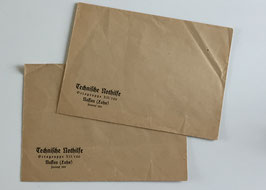 Two envelopes of the 'Technische Nothilfe'