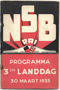 NSB - Programma 3en landdag - 30 maart 1935
