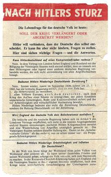 Geallieerd pamflet 'Nach Hitlers Sturz'