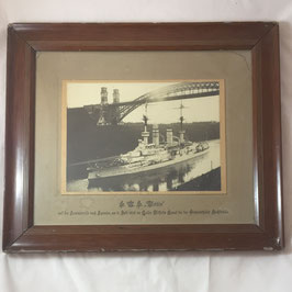 Framed photograph of 'SMS Wettin'