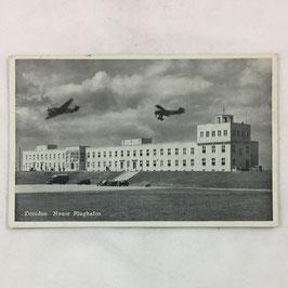 German postcard 'Dresden - Neuer Flughafen'