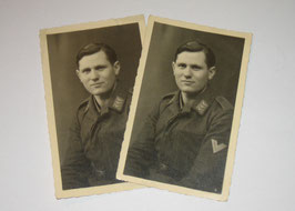 Pair of photographs of a german 'Gefreiter' of the 'Luftwaffe'