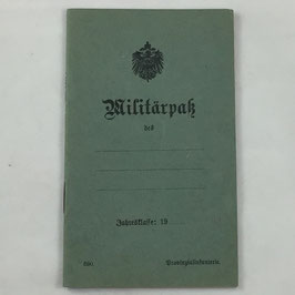 German Militärpass - unissued