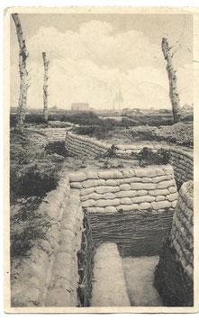 Grote Pijlschans te Nieuwpoort - Eerste linie loopgraaf