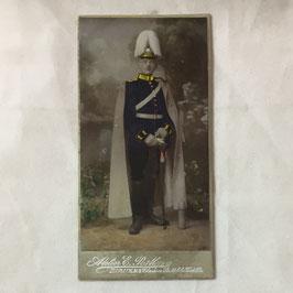CDV Duits soldaat met 'Pickelhaube'