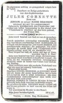 Doodsprentje 'Jules Cornette'