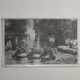 German postcard 'Unsere Wehrmacht' - 'Flußüberquerung'